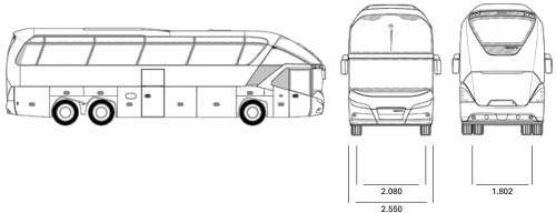 png library library Vector bus neoplan. Blueprints buses starliner