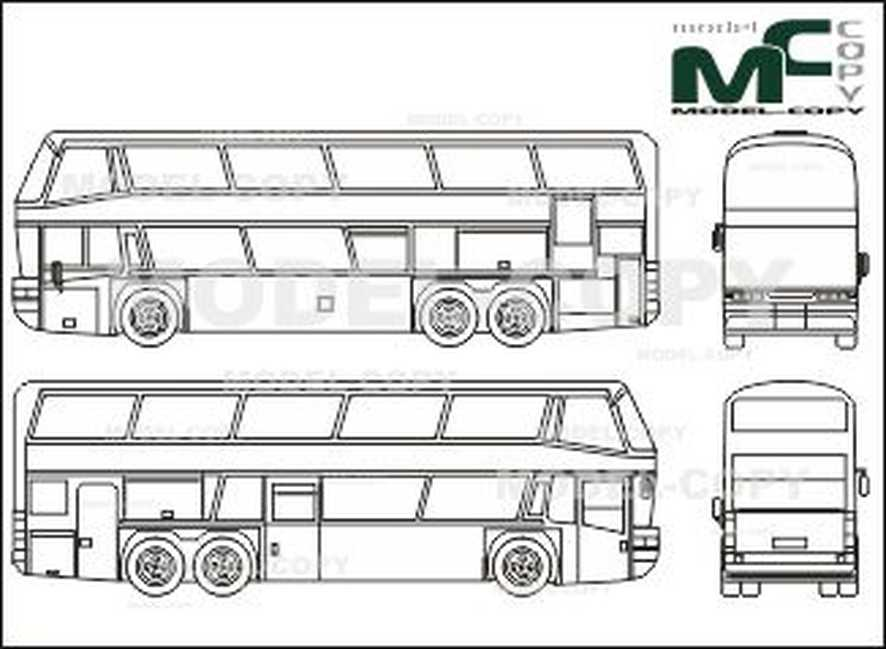 picture transparent Vector bus neoplan. Skyliner n d drawing