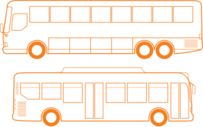 jpg Vector bus outline. Outlines clip art at
