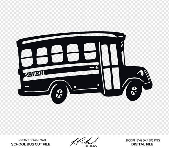 graphic royalty free download Vector bus party. School cut file digital