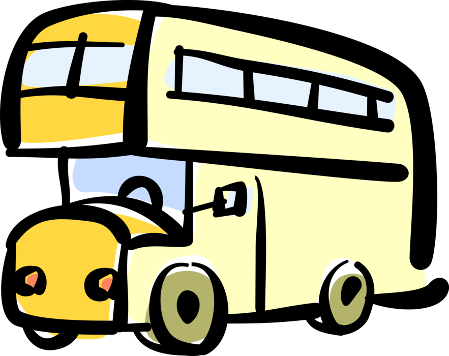 jpg free library Vector bus passenger. Double decker in united