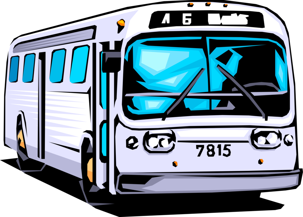 svg black and white library Public Transportation City Bus