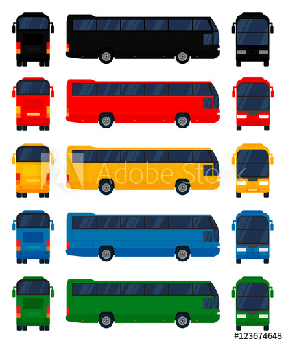 clip art transparent library Vector bus public. City in different view