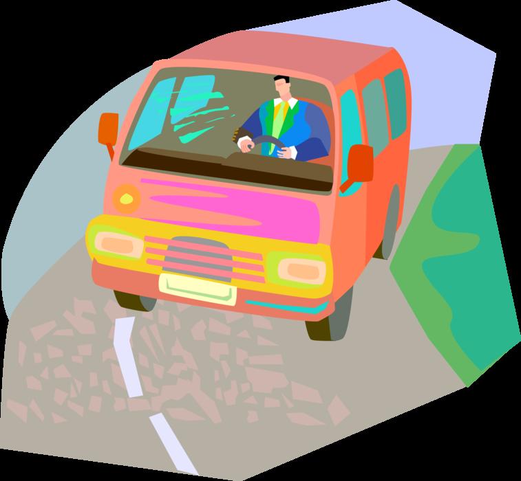 png download Vector bus public transportation. Driver drives image illustration