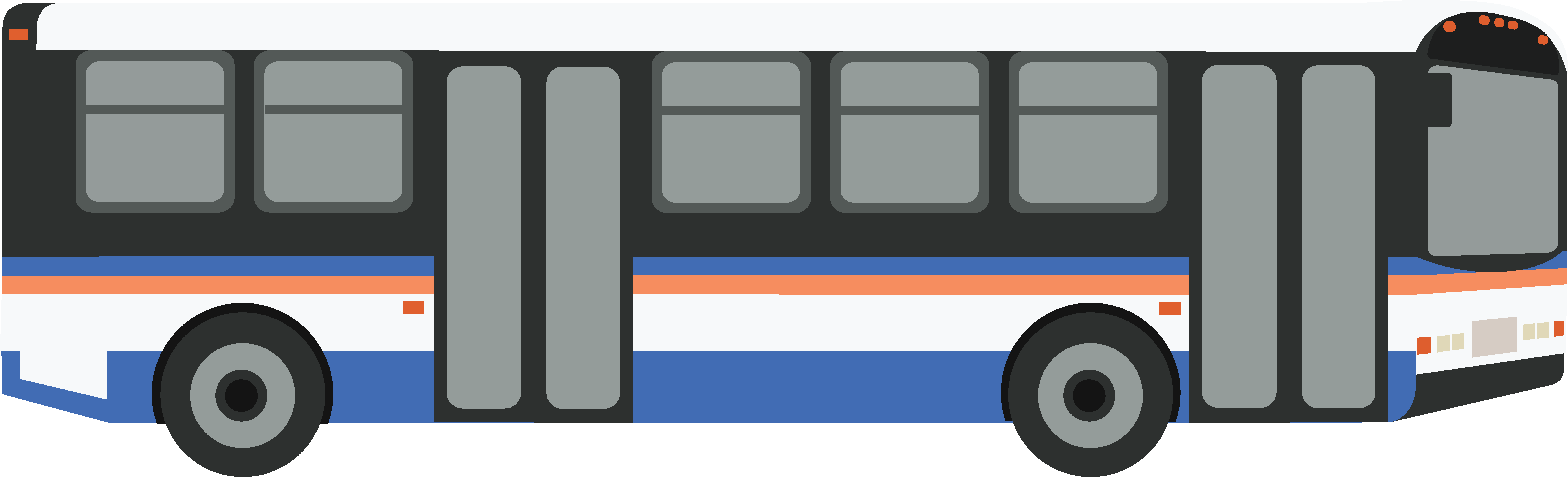 vector black and white stock Collection of free Bussed clipart city bus