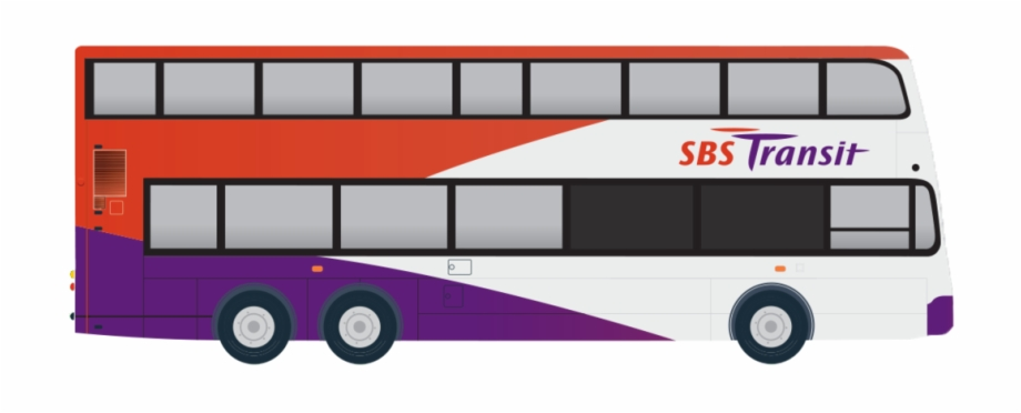 clipart black and white library Vector bus sbs. Svg royalty free transit