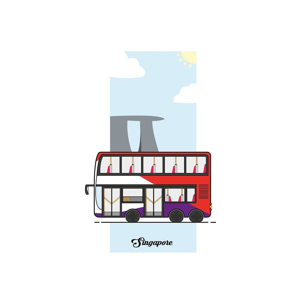 png royalty free In singapore illustration illustrator. Vector bus sbs