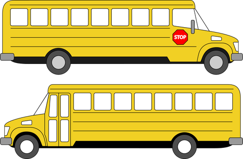 jpg stock Vector bus sekolah. Collection of free bussed