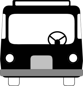 picture free Front clip art at. Vector bus side view