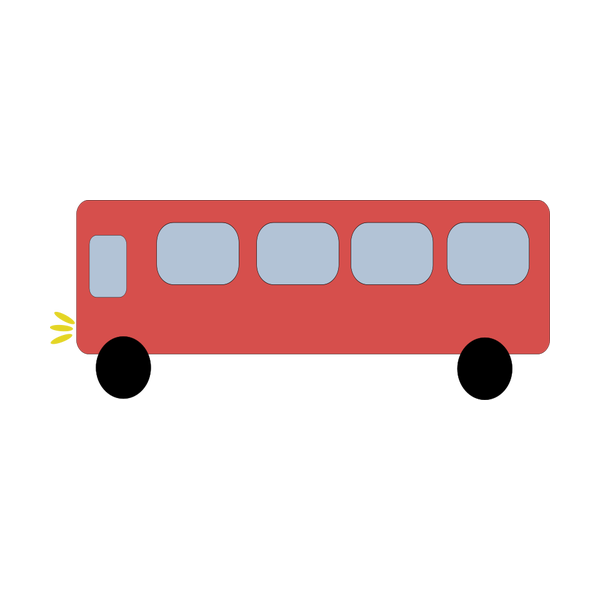 picture freeuse Red free svg . Vector bus simple