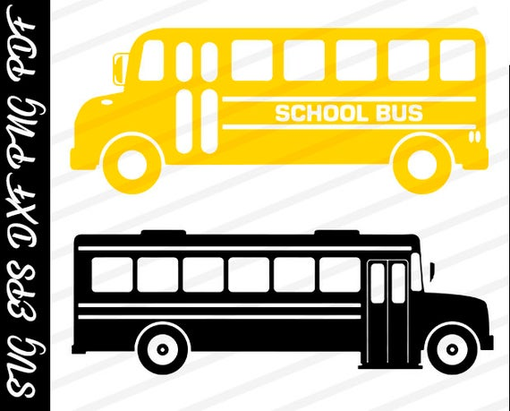 clipart freeuse download School Bus svg cut files School Bus Vinyl School Bus Iron on Transfer  School Bus Vector Files for Cutting Silhoutte School Bus Clipart