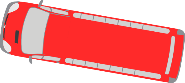 freeuse download Red clip art at. Vector bus top view