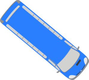 svg black and white Vector bus top view. Blue clip art at