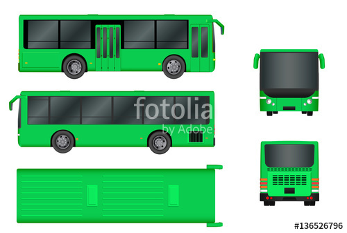 picture royalty free stock Vector bus top view. Green city template passenger