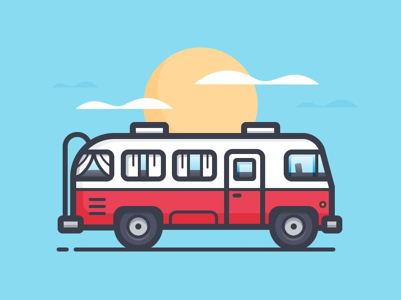free stock Vector bus tour. Illustration graphic