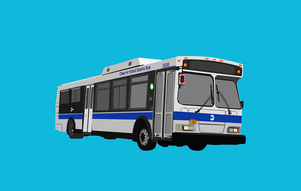 image royalty free library Vector bus transit. New york city orion