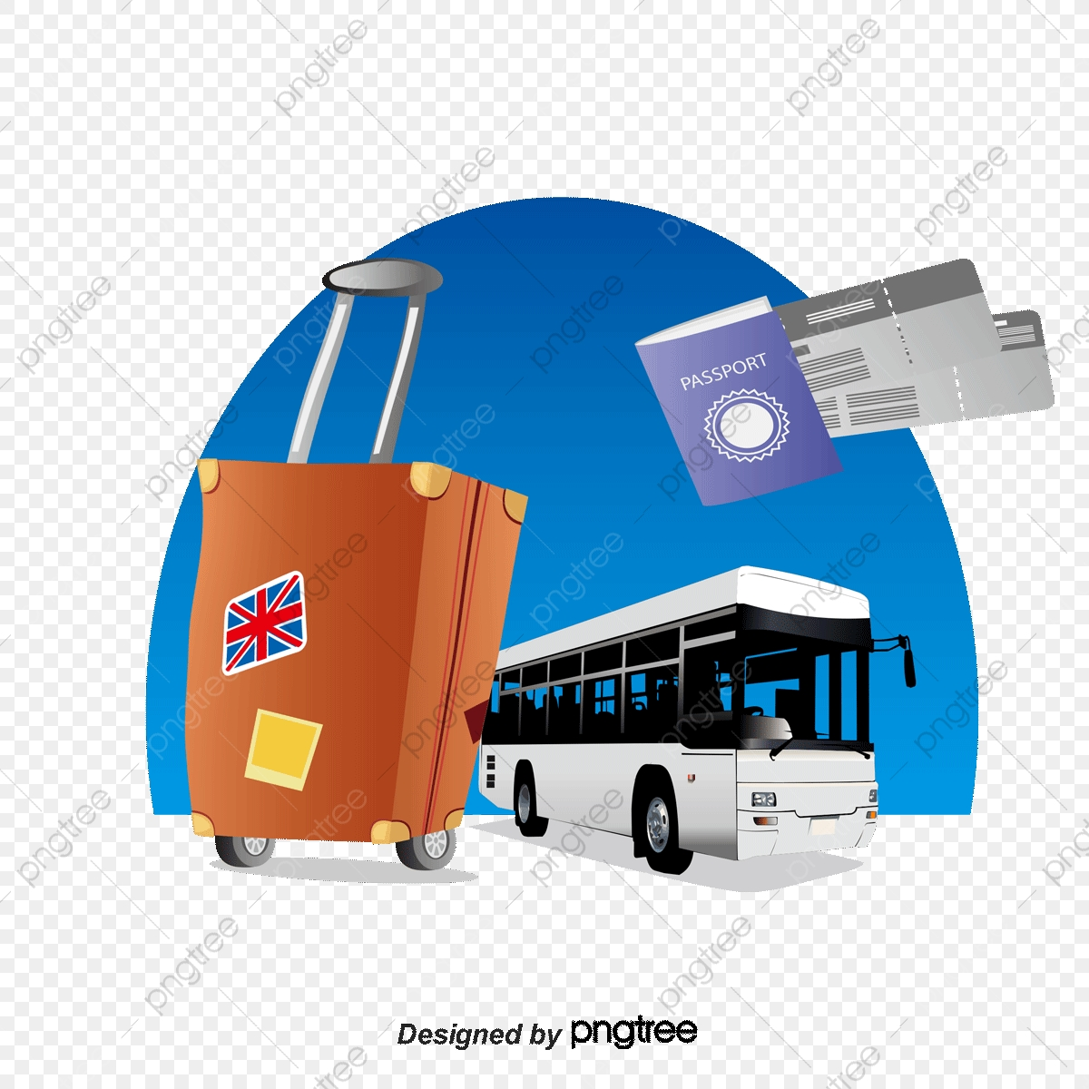 picture freeuse Vector bus travel. Bags png and with