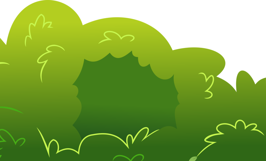 picture library Vector bushes. Mlp style bush by
