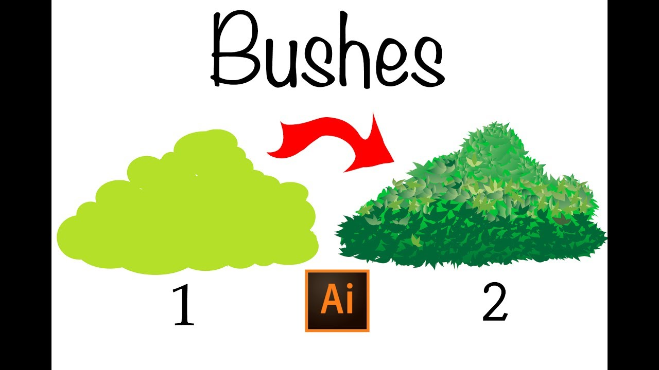 clip art free stock Learn how to draw. Vector bushes illustrator