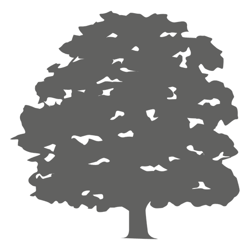 jpg black and white library Vector bushes silhouette. Tree transparent png svg