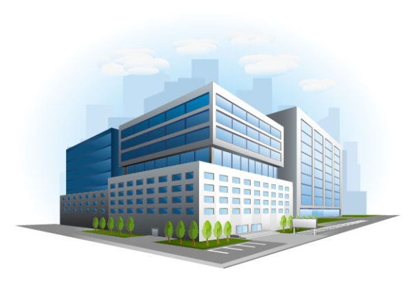 jpg freeuse Buildings design free download. Vector business building