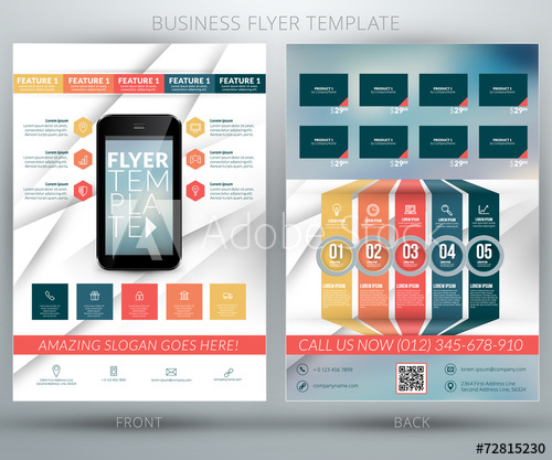 picture free library Flyer template buy this. Vector business feature
