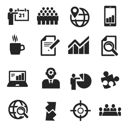 banner transparent stock Vector business icon.  icons images free