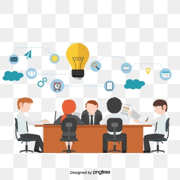 graphic free Png images and psd. Vector business meeting