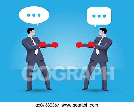 image free download Vector business negotiation. Eps tough concept stock
