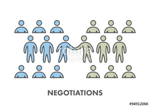 vector free Line icon symbol . Vector business negotiation