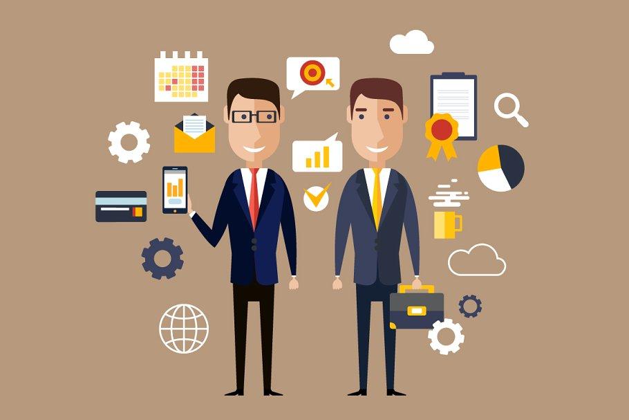 image royalty free download Vector business partner. Partners flat desig