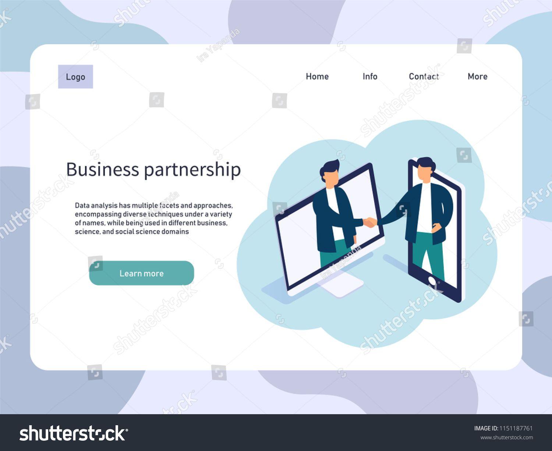 picture transparent download Online meeting partnership people. Vector business partner