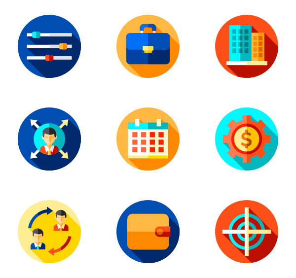 graphic library stock Vector business partnership. Icons free management