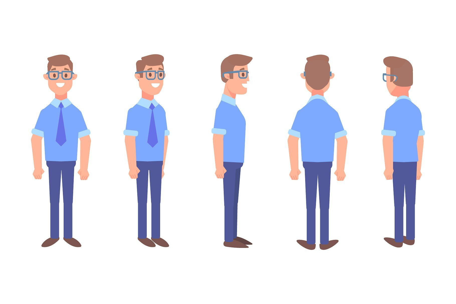 png free People animated man lady. Vector business person