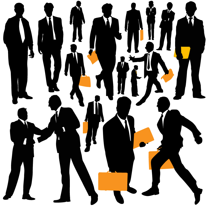 clip art royalty free library Vector business person. Free people download clip