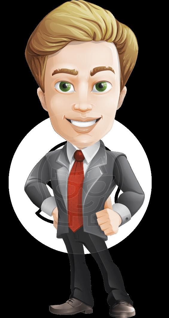 clip art freeuse stock Vector business person. Blond man cartoon character