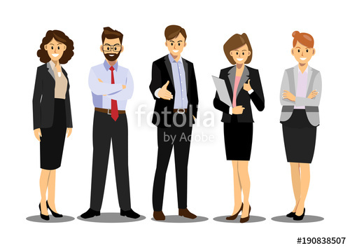 picture royalty free download Team group of confident. Vector business person