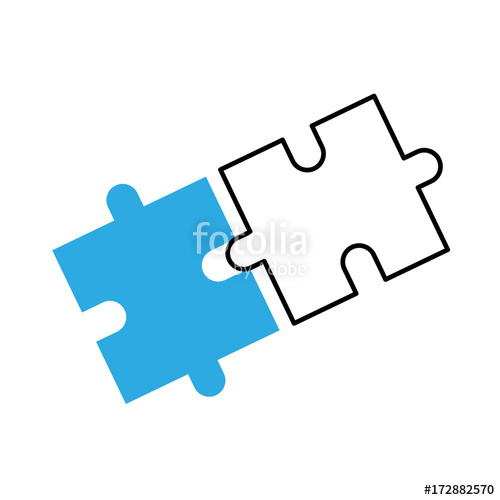 clipart Jigsaw strategy innovation . Vector business puzzle