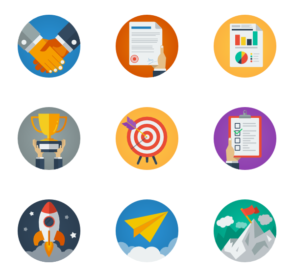 graphic transparent Icons free. Vector business strategy