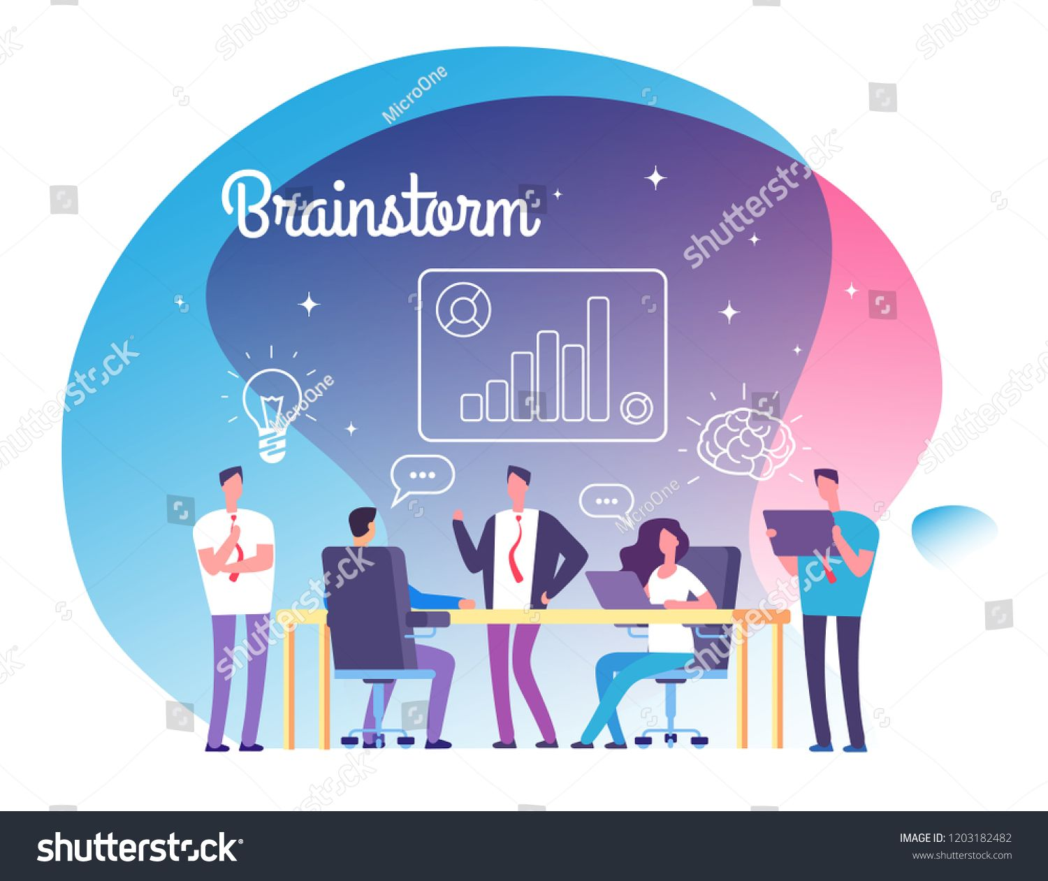 svg library library Vector business success. Brainstorming concept people meeting