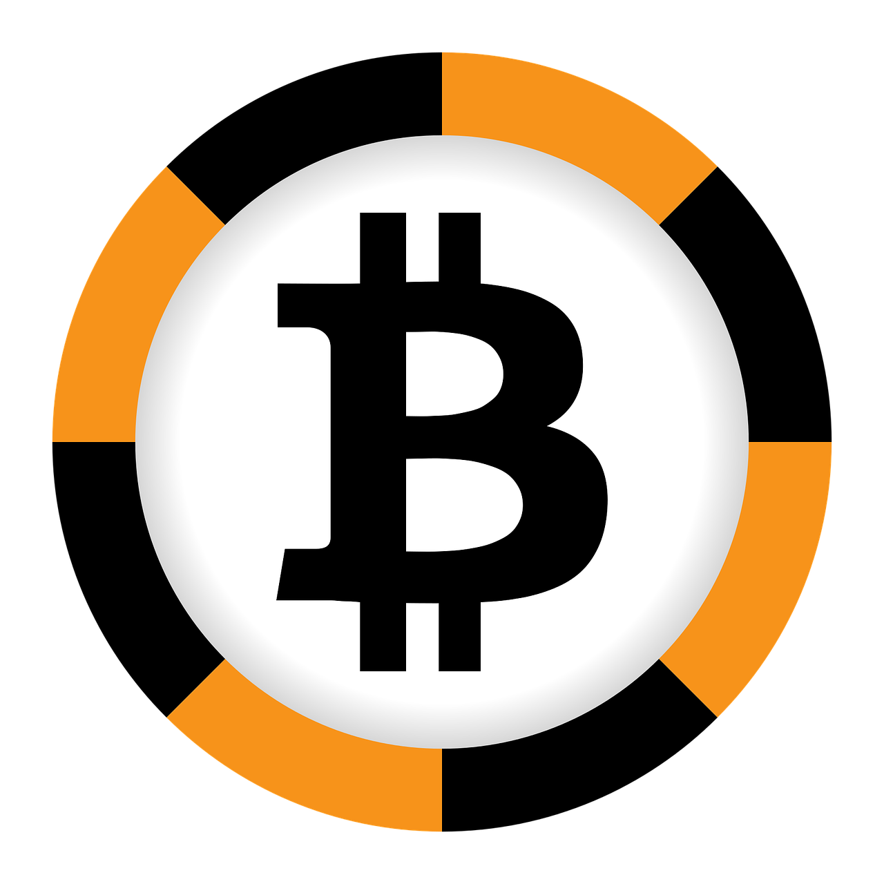 jpg royalty free Vector business success. Bitcoin currency black orange