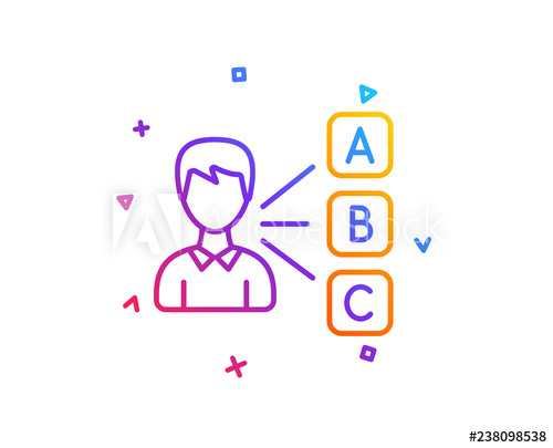 clip art royalty free library Opinion or choice line. Vector business test
