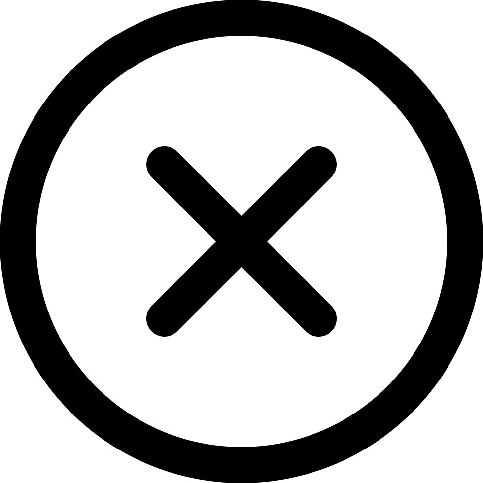 black and white download Vector button cross. Close in circular outlined