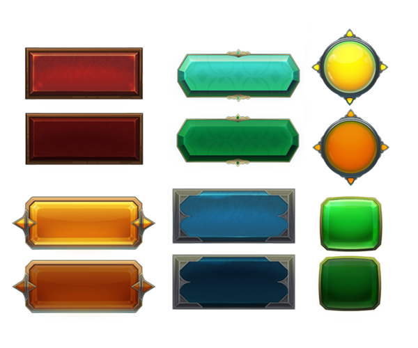 image free stock Vector buttons game. Royalty free gui art