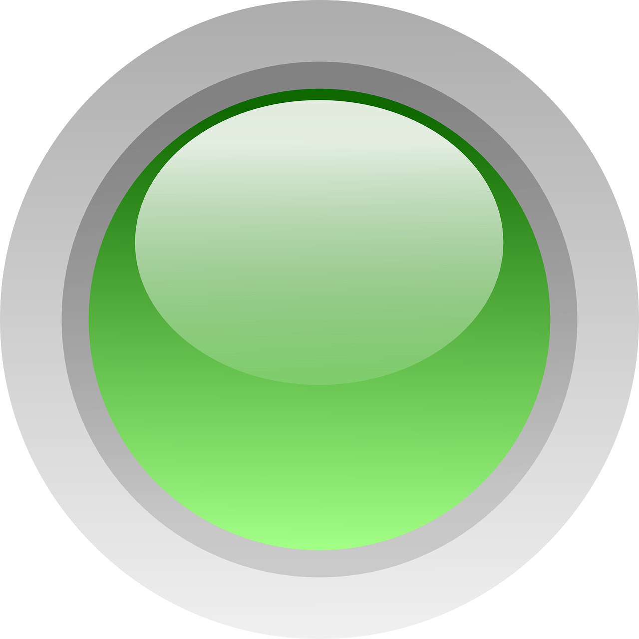 svg library Round green free graphics. Vector button glossy