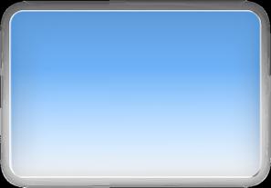 clip art free stock Vector button rectangle. Blue glossy clip art