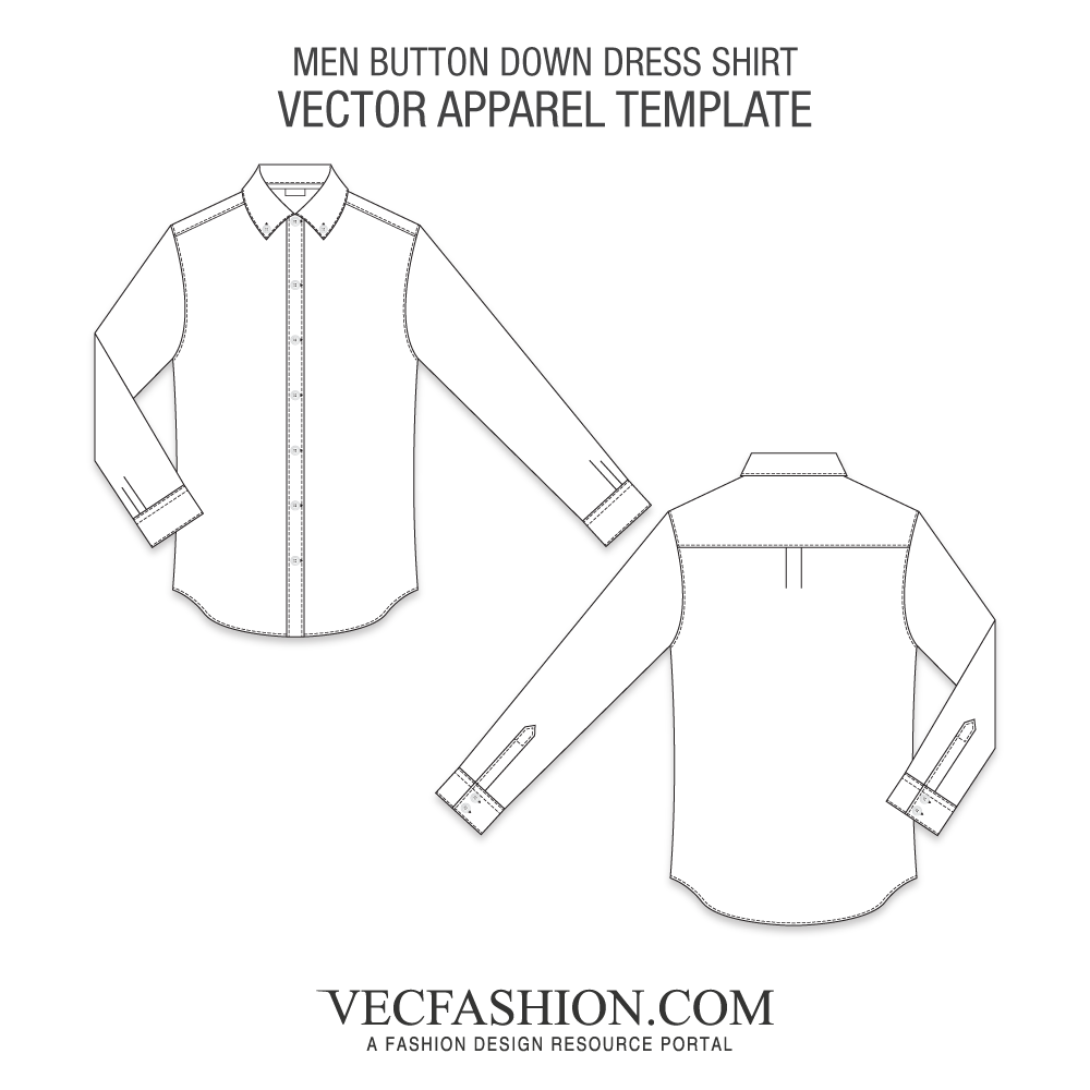 graphic black and white download Vector button shirt. Men down dress vecfashion