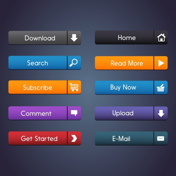 png freeuse Commercial webpage buttons collection. Vector button web page