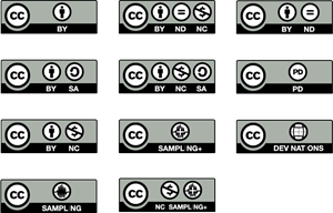svg freeuse download Creative commons license logo. Vector buttons