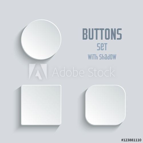 graphic free download Vector buttons blank. White button set round